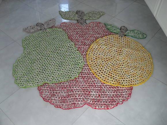 Jogo de tapetes de barbante para cozinha