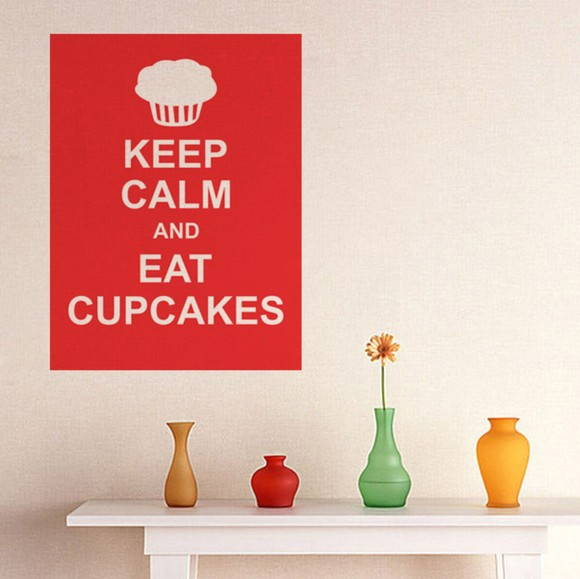 Adesivo Keep Calm and Eat Cupcake