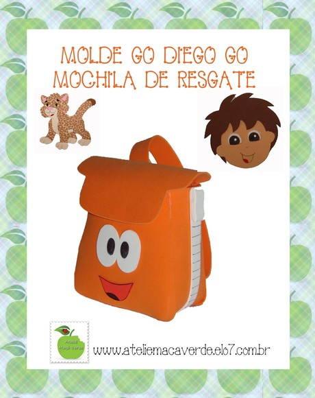 MOLDE - RISCO MOCHILA GO DIEGO GO