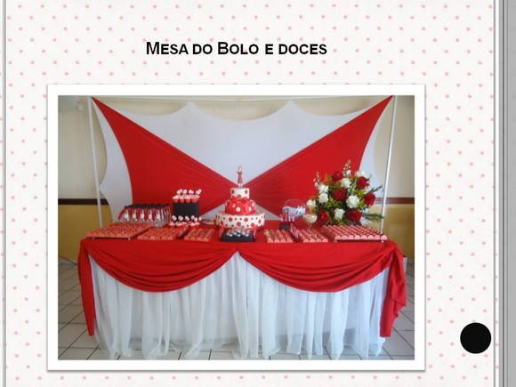 Mesa de Bolo e doces finos Festa anos 60