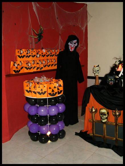 Decoraç u00e3o de Festa Halloween terror no Elo7 Atelier Doces Sonhos Festas By Vanessa Heckert  -> Decoração De Festas De Halloween