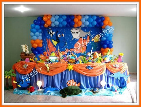 Decora    O De Festa Nemo   Fundo Do Mar