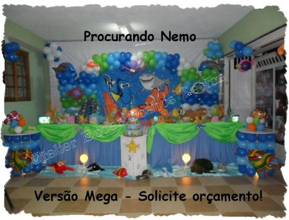 Decora  Ao De Festa Nemo   Fundo Do Mar