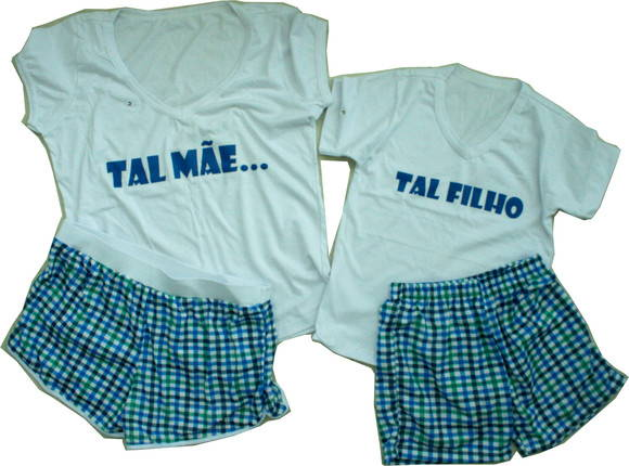 Kit Pijamas Tal me Tal filho Gola V