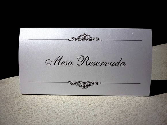 Cart�o de RESERVA de mesa - layout 5