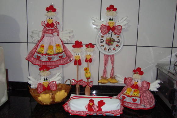 kit decoracao cozinha : kit decoracao cozinha:Kit de galinhas para decorar sua cozinha