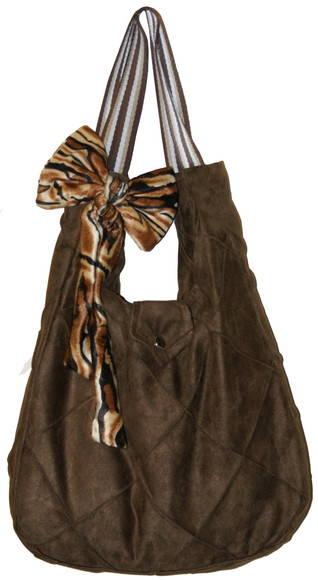 Bolsa em camurça trabalhada marrom