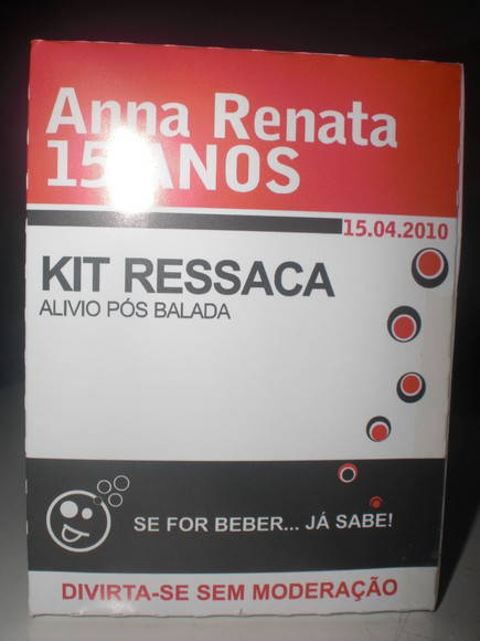 Kit ressaca caixa rem�dio