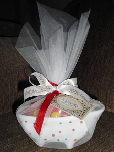 Saboneteira Banheirinha de Porcelana