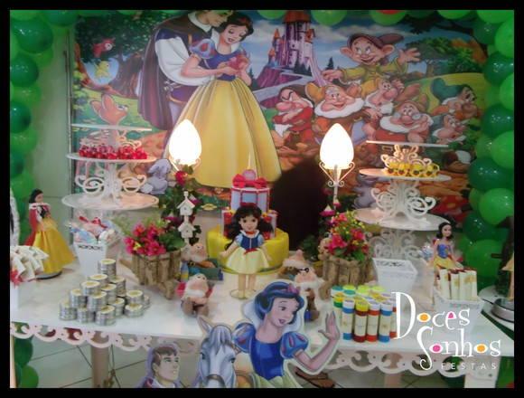 decoracao festa infantil branca de neve provencal : decoracao festa infantil branca de neve provencal:Decoração branca de neve provençal