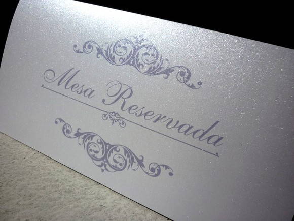 Cart�o de RESERVA de mesa - layout 7