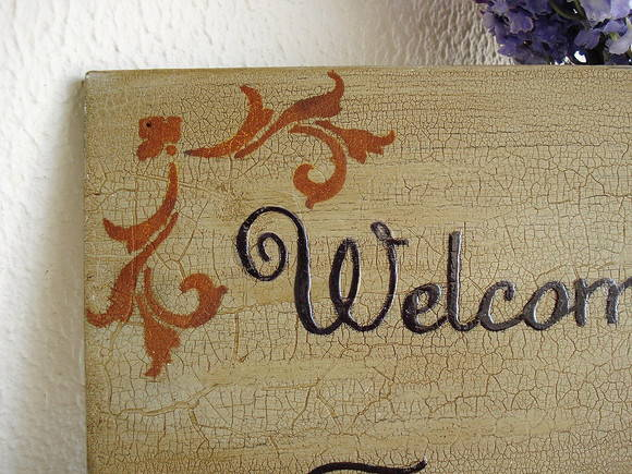 Placa Welcome Rusty