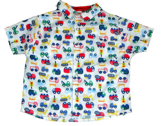 CAMISA PARA MENINO CARRINHOS