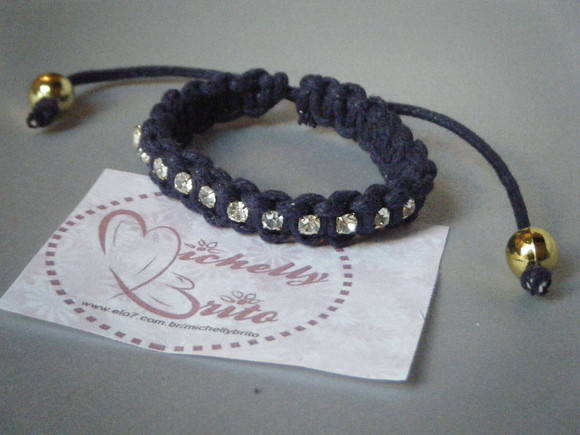 Pulseira shambala com strass