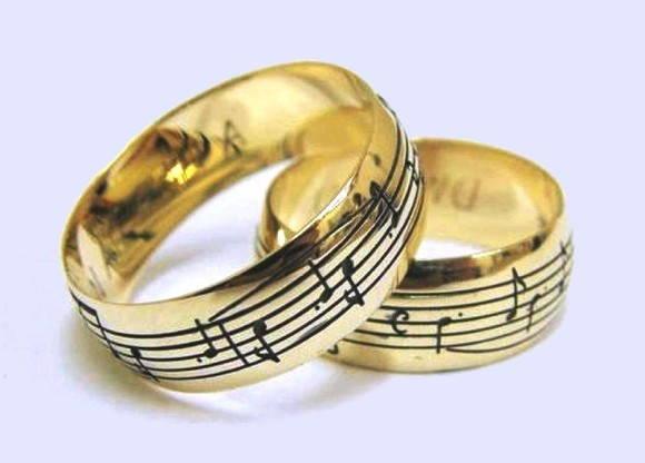 Par de Alian�a Notas Musicais