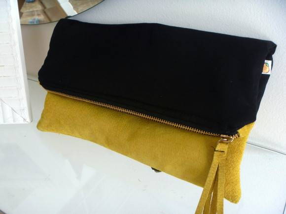 Clutch Zper Preto/Amarelo