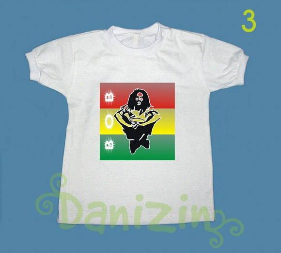 T-Shirt Beb� Infantil BOB MARLEY 3