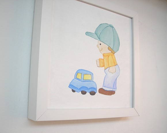 Quadro Infantil &quot;Carrinho&quot;