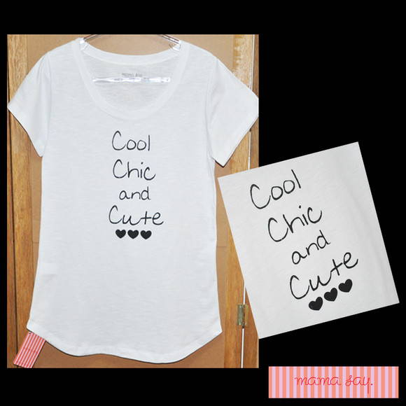 "T-Shirt feminina ""Cool Chic and Cute"""
