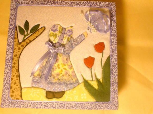 Caixa MDF decorada t�cnica patchwork