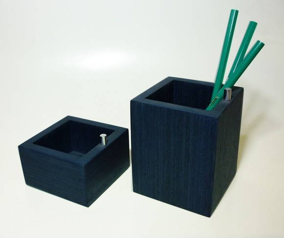 Conj. Porta l�pis e Porta clips Azul