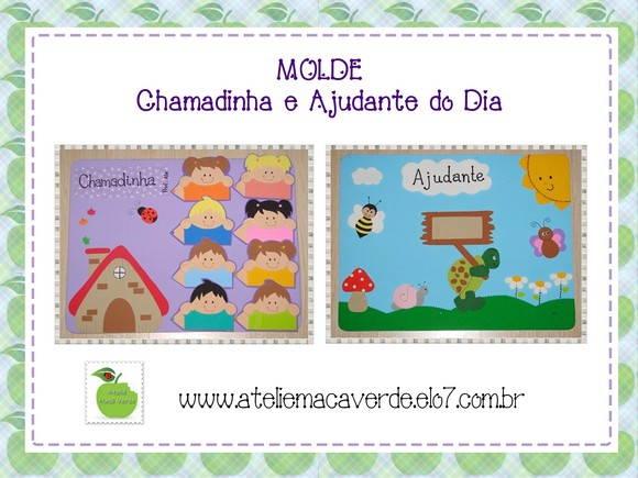 MOLDE RISCO EVA CHAMADINHA E AJUDANTE