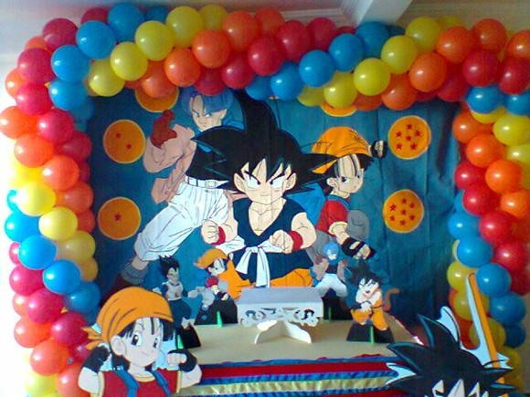 Decoración fiesta de dragon ball Z - Imagui