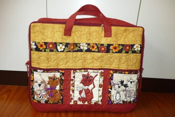 Bolsa De Viagem Em Tecido Passo A Passo : Projeto mala de viagem patchwork by deise