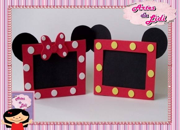 Retrato Do Mickey Minnie R   10 90 R   14 90 Porta Retrato Mickey