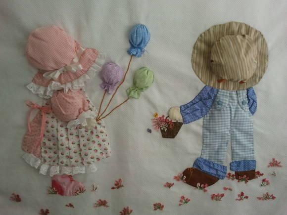 Mantita de patchwork para bebé - Imagui