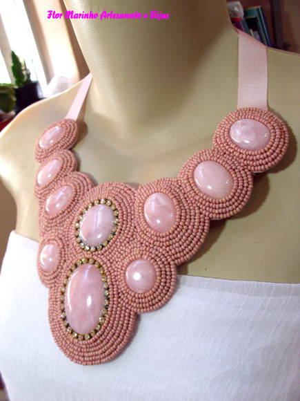 MAXI COLAR BORDADO ROSA CH (F. GRTIS)