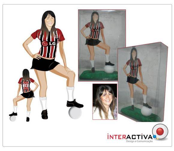 Boneco Personalizado Adulto Feminino Tim  Interactiva Design  Elo7 -> Boneco Banheiro Feminino