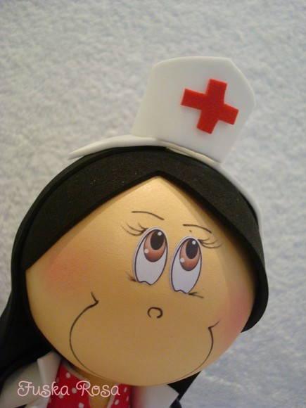 Fofucha Enfermeira | Ateliê Fuska Rosa | 24B805 - Elo7