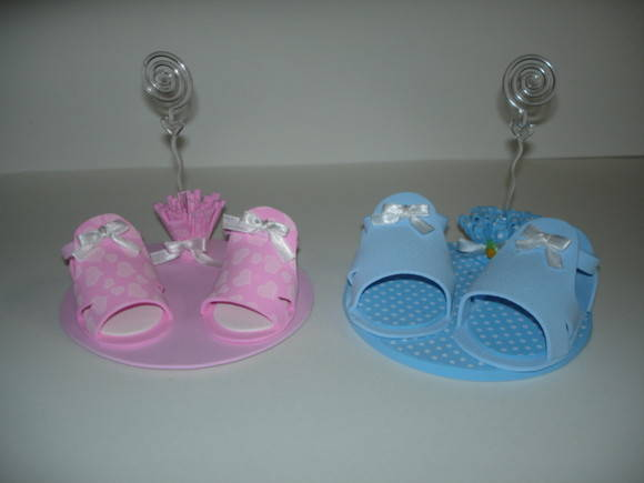 Lembrancinha/Convite Sapatinho de Bebê
