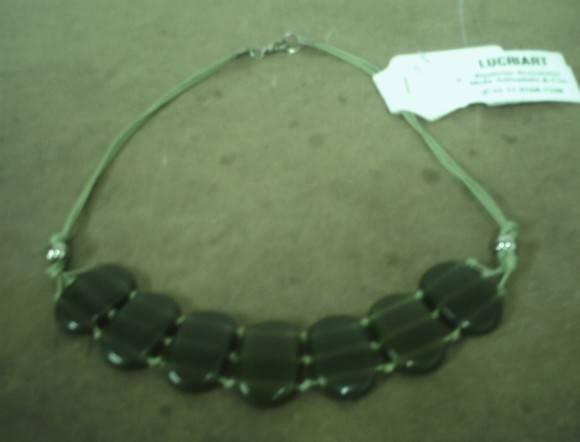 maxi colar pedras verde