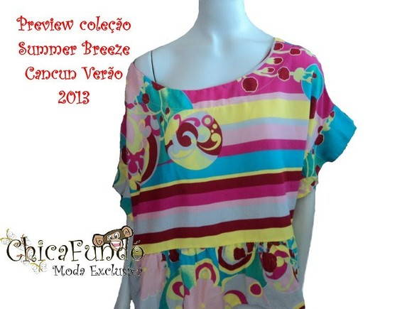 Blusa Batinha Multi Colorida Ver O 2013 Chicafund Moda Exclusiva