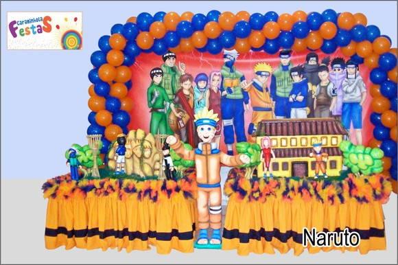 decoracao festa naruto:Tema Naruto