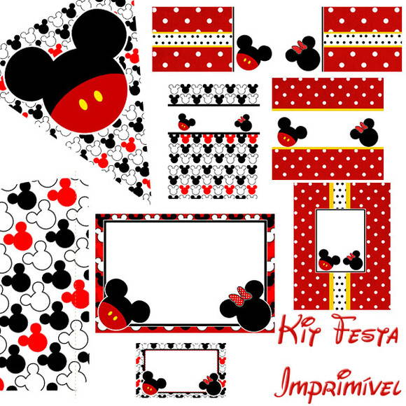 Kit Para Imprimir   Minnie E Mickey