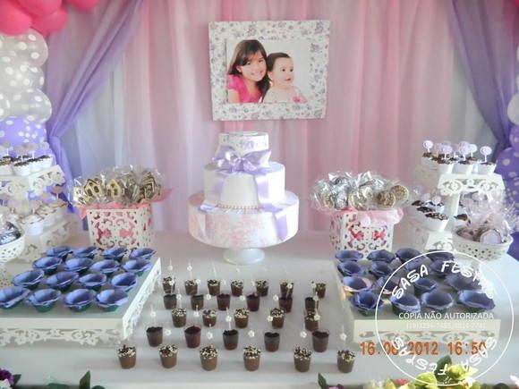 Início > Sasa Festas > Decoração Bonecas Lilas, Rosa e Branco