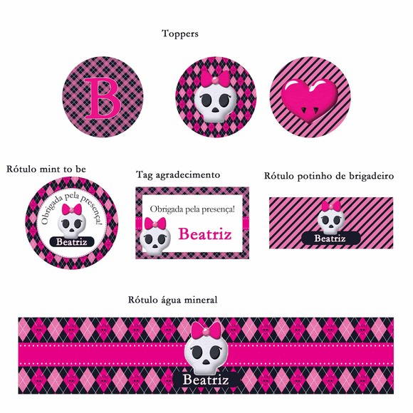 Kit Digital Para Imprimir Monster High