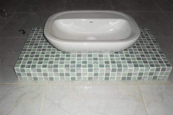 Bancada para pia banheiro  tania hellen vilhena da silva vicente  Elo7 -> Altura Para Pia De Banheiro