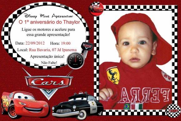 Convite Aniversario Infantil Personalizado Para Sua Festa