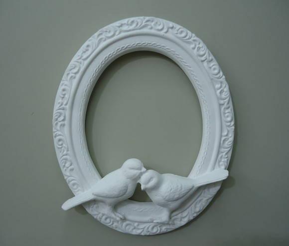 Moldura de resina com espelho artbella cria es elo7 for Armarios de resina para jardin
