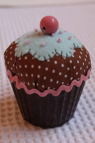 Alfineteiro cupcake