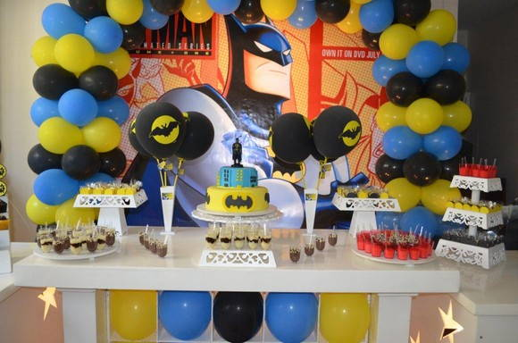 decoracao festa batman : decoracao festa batman:Decoracao Clean Batman