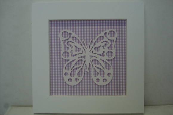 Quadro 21x21 borboleta