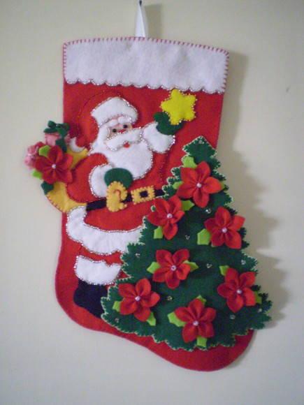 Enfeite De Natal ~ NATAL ENFEITE PARA PORTA TIBYKO arte em feltro Elo7