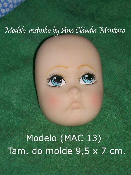 Molde para rosto de boneca(MAC 13)