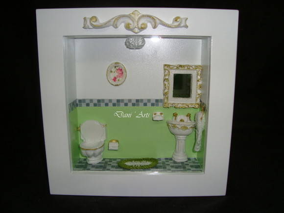 Quadro cenrio Lavabo