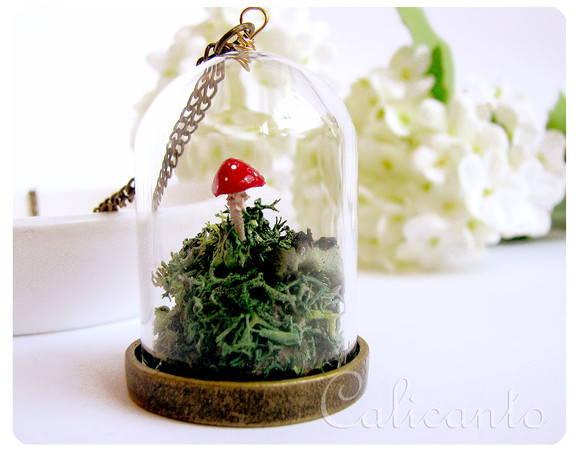 mini jardim terrario : mini jardim terrario:mini-terrario-colar